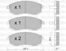 Колодки тормозные дисковые для NISSAN 200 SX(S13), ALTIMA, MAXIMA QX(A32), MAXIMA(J30), SENTRA(B15) <b>METELLI 22-0404-0</b> - изображение