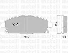 Колодки тормозные дисковые METELLI 22-0406-0 - изображение