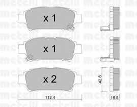 Колодки тормозные дисковые METELLI 22-0428-0 - изображение