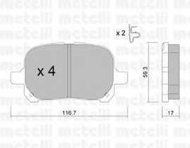Колодки тормозные дисковые METELLI 22-0429-0 - изображение