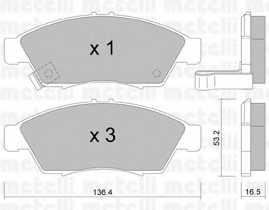 Колодки тормозные дисковые для SUZUKI LIANA(ER) <b>METELLI 22-0437-0</b> - изображение