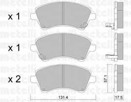 Колодки тормозные дисковые METELLI 22-0446-0 - изображение