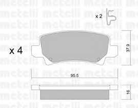 Колодки тормозные дисковые METELLI 22-0447-0 - изображение