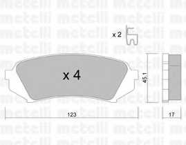 Колодки тормозные дисковые METELLI 22-0453-0 - изображение