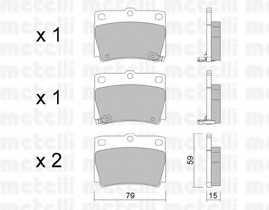 Колодки тормозные дисковые METELLI 22-0484-0 - изображение
