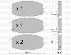 Колодки тормозные дисковые для HYUNDAI i30 CW(FD), i30(FD), ix35(EL,ELH,LM) / KIA CARENS(FJ), CEED(ED), PRO CEED(ED) <b>METELLI 22-0513-0</b> - изображение