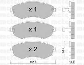 Колодки тормозные дисковые для DAEWOO REXTON(GAB#) / SSANGYONG REXTON(GAB#) <b>METELLI 22-0518-0</b> - изображение