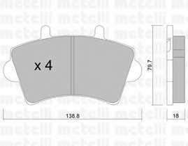 Колодки тормозные дисковые METELLI 22-0545-0 - изображение