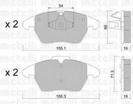 Колодки тормозные дисковые METELLI 22-0548-1 - изображение