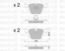 Колодки тормозные дисковые METELLI 22-0560-0 - изображение