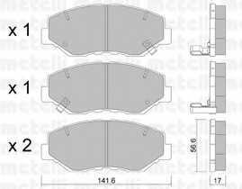 Колодки тормозные дисковые METELLI 22-0606-0 - изображение