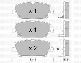 Колодки тормозные дисковые METELLI 22-0728-0 - изображение