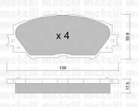 Колодки тормозные дисковые METELLI 22-0747-0 - изображение