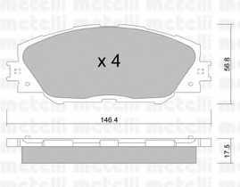 Колодки тормозные дисковые METELLI 22-0748-0 - изображение