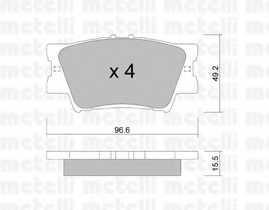 Колодки тормозные дисковые METELLI 22-0749-0 - изображение