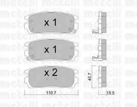 Колодки тормозные дисковые METELLI 22-0779-0 - изображение