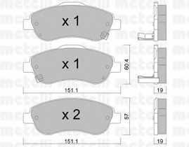 Колодки тормозные дисковые METELLI 22-0789-0 - изображение