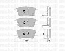 Колодки тормозные дисковые для HONDA CR(RE) <b>METELLI 22-0790-0</b> - изображение