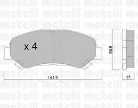 Колодки тормозные дисковые METELLI 22-0792-0 - изображение