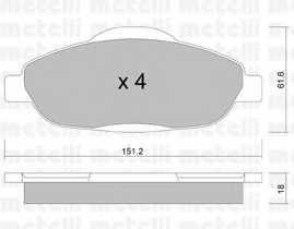 Колодки тормозные дисковые для PEUGEOT 3008, 308(4A#,4C#) <b>METELLI 22-0804-0</b> - изображение
