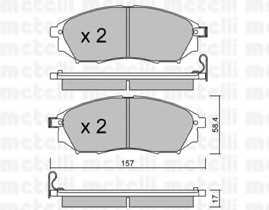 Колодки тормозные дисковые METELLI 22-0819-0 - изображение