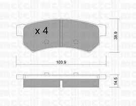 Колодки тормозные дисковые METELLI 22-0846-0 - изображение