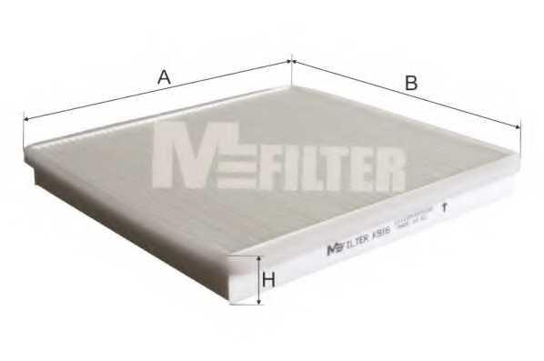 Фильтр салонный MFILTER K 916 - изображение