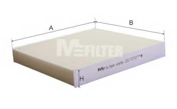Фильтр салонный MFILTER K 976 - изображение