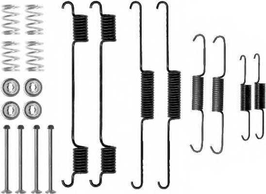 Комплектующие тормозной колодки MINTEX 97401 0308 / MBA817 - изображение