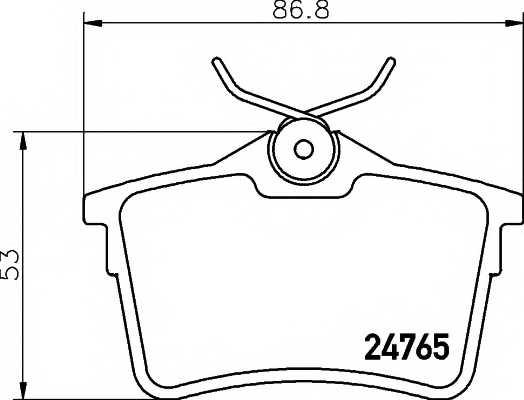 Колодки тормозные дисковые MINTEX MDB2978 - изображение