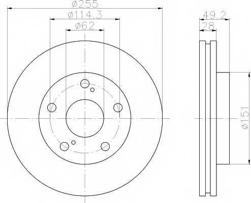 Тормозной диск MINTEX 98200 0776 / MDC1015 - изображение