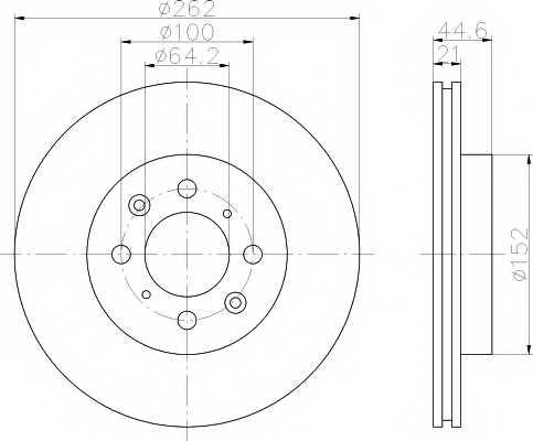 Тормозной диск MINTEX 98200 0609 / MDC1023 - изображение