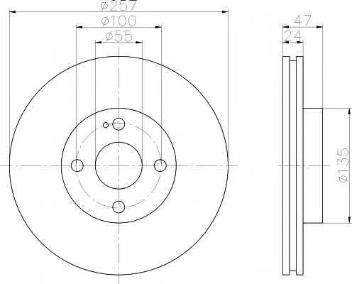 Тормозной диск MINTEX 98200 1031 / MDC1401 - изображение