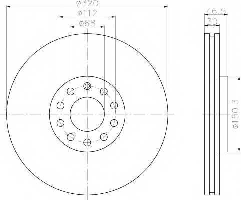 Тормозной диск MINTEX 98200 1067 / MDC1444 - изображение
