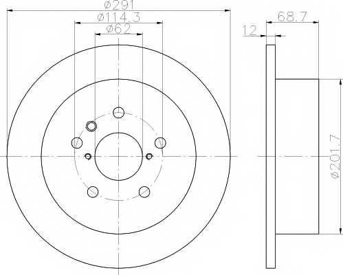 Тормозной диск MINTEX 98200 1442 / MDC1511 - изображение