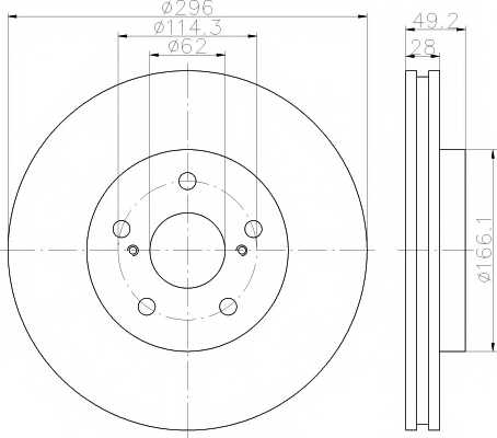 Тормозной диск MINTEX 98200 1358 / MDC1564 - изображение