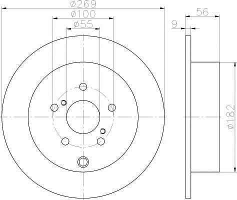 Тормозной диск MINTEX 98200 1704 / MDC1629 - изображение