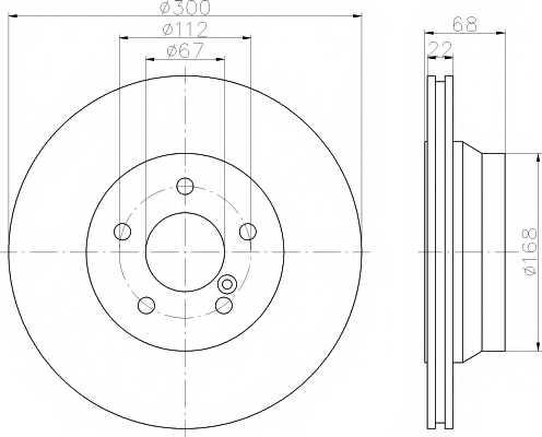Тормозной диск MINTEX 98200 1155 / MDC1634 - изображение