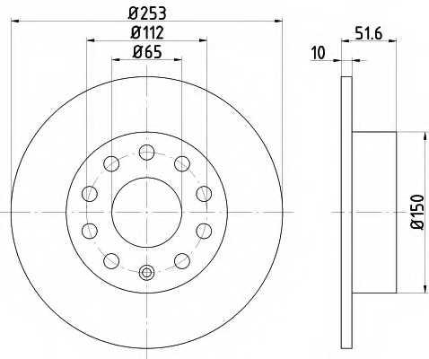 Тормозной диск MINTEX 98200 1209 / MDC1640 - изображение