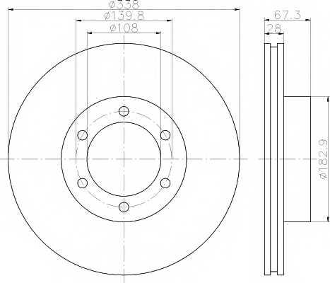 Тормозной диск MINTEX 98200 1373 / MDC1776 - изображение