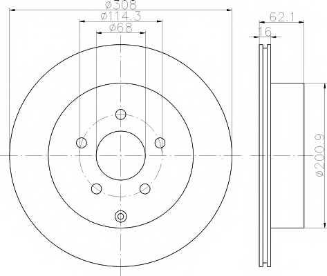 Тормозной диск MINTEX 98200 1493 / MDC1820 - изображение