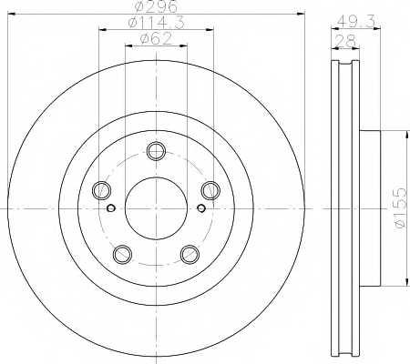 Тормозной диск MINTEX 98200 1688 / MDC1850 - изображение