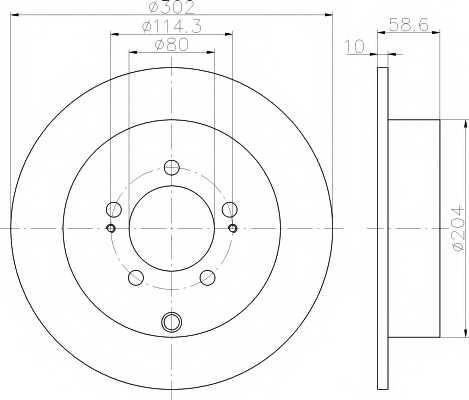 Тормозной диск MINTEX 98200 1670 / MDC2041 - изображение