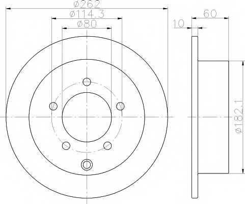 Тормозной диск MINTEX MDC2234 - изображение
