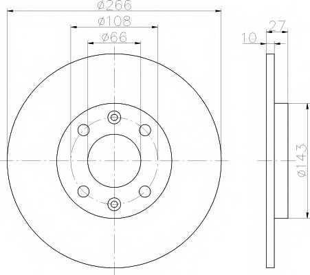 Тормозной диск MINTEX 98200 0299 / MDC338 - изображение