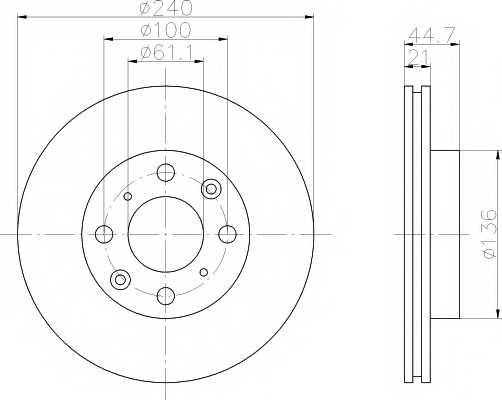 Тормозной диск MINTEX 98200 0778 / MDC847 - изображение