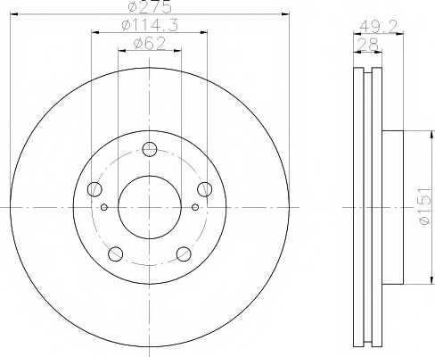 Тормозной диск MINTEX 98200 0777 / MDC898 - изображение