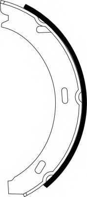 Комплект колодок стояночной тормозной системы MINTEX 98101 0328 / MFR255 - изображение