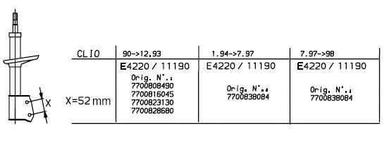 Амортизатор для RENAULT CLIO(5/357#,B/C57#,S57#) <b>MONROE 11190</b> - изображение