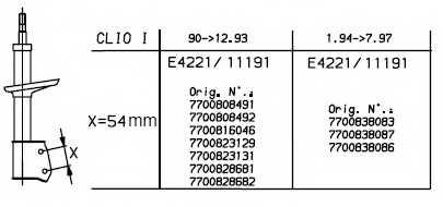 Амортизатор для RENAULT CLIO(5/357#,B/C57#,S57#) <b>MONROE 11191</b> - изображение